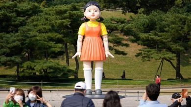 Photo of 'Red Light, Green Light': 'Squid Game' doll at Seoul park draws fans