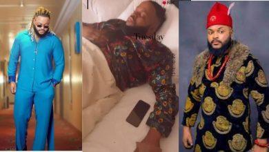 Photo of BBNaija winner, WhiteMoney placed on drip following ailment (Video)