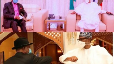 Photo of Willie Obiano in a Closed Door Meeting With President Buhari