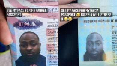 Photo of My Face for Yankee Passport Vs. My Face for Naija Passport – Davido Compares His Looks