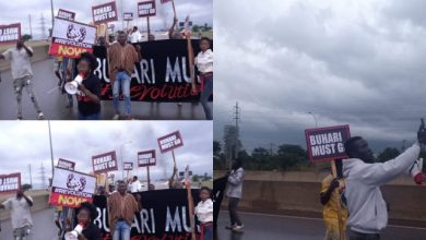 """Photo of Nigeria @ 61: Nigerians Reactions """"Buhari Must Go"""" Protesters Storm The Streets Of Abuja"""